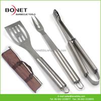 QAP0012 3Pcs Popular Design Korean BBQ Tool Set With Apron