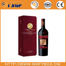 Two bottles paper wine glass packaging boxes