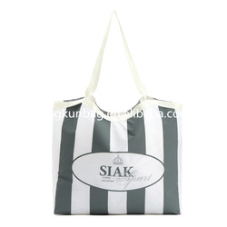 2015 newest cheap nylon shopping bag with printing in custom