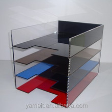 four-storey acrylic office document holder