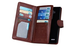 For lg g4 case, multi-functional wallet leather case with 9 card holder and photo frame