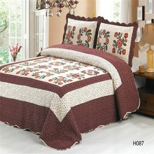 Top quality home cotton printed new designs batik bed sheet