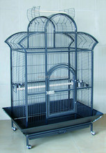 2015 new style Rolling Macaw Dome Top Cage Parrot Bird House Large Door Grille Drawer Perch New