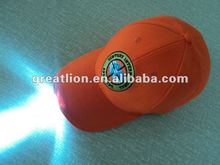customised embroidered LED cap for promotion