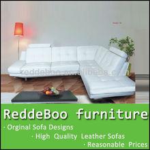 top divano in pelle di vendita con gambe in acciaio inox