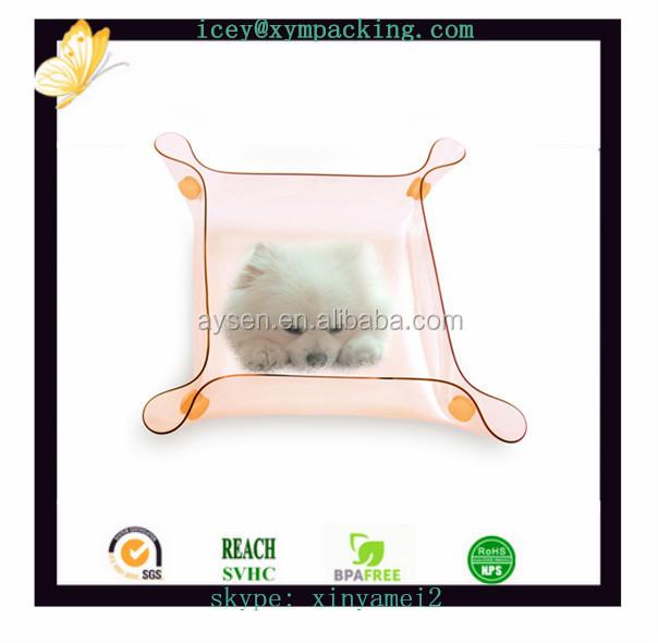 Personalizado sensor de plástico dobráveis de silicone pet bowls para animais