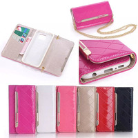 2015 Luxury Lady Handbag Case for Samsung Galaxy S6, Flip for Samsung S6 Leather Wallet Slim, for Samsung S6 Factory Price Cover
