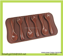 New design brown color chocolate molds for silicone bakeware