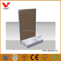 Wooden slatwall sock display fixture/slatwall leather belt hanging display