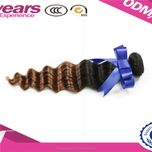 Beijing wholesale alibaba express high quality human hair 100g/pc natural color double drown brazilian hair extension