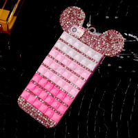 Mickey Rhinestone Crystal Case Cover For iPhone 5 6 6Plus Case New 2015 Hard Back Cover Skin mobile Phone Case Cover