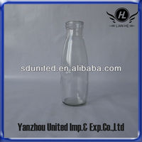 Wholesale High Quality 16oz Glass Milk Bottle With Plastic Lid