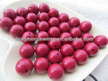 New Color Wire Red Acrylic Solid Beads,Colorful Various Size Round Acrylic Beads for Chunky Necklace Jewelry
