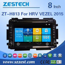 car stereo For Honda HRV /VEZEL 2015 touch screen 2 din auto car audio radio player WITH DVR OBD DTV 3G wifi