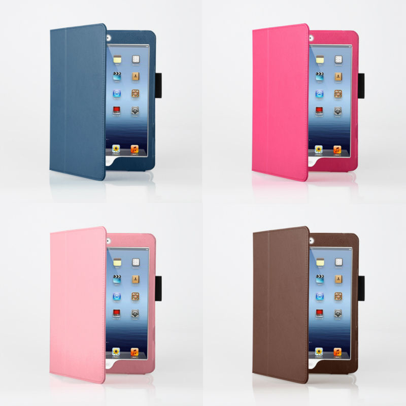 For ipad Air leather case, new style quality products stand for ipad case