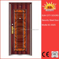 Exterior air vented steel doors SC-S025