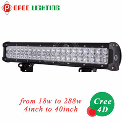 4D 4inch off road led light bar cre e 18w for 4x4 accessories