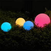 PBB-200 plastic solar ball waterproof garden glowing solar globe for outdoor
