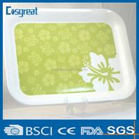 plastic melamine serving tray for restaurant