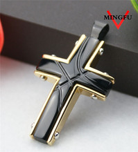 Mingfu global fashion custom cross pendant for men