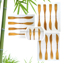 2015 fashion high quality mini bamboo Spatula and knife for fruit and vegetables