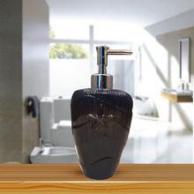 OEM Blue Sea Fish Ceramic Round Bathroom Liquid Soap Dispenser