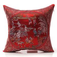 1pcs 42cmX42cm/16''X16''Canvas Embroidery Print Cushion Cover Decorative Applique Throw Pillowcase 3D Home Pad Bed Car Soft