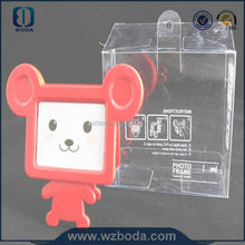 clear plastic box with paper card