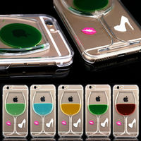 crystal back hard case for iPhone 6, bling phone case for apple iphone 6