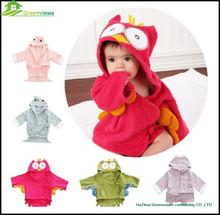 100% cotton comfortable baby bathrobes, sleepwear,night dress baby hooded bathrobe for baby barhing GVKBR1006