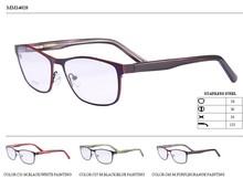 de metal con la pintura grabar gafas anteojos ópticos marco