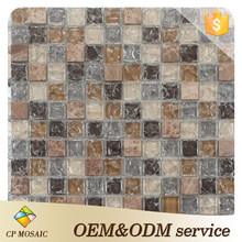 Building Material Indoor Wall Design Glass Mosaic Tile