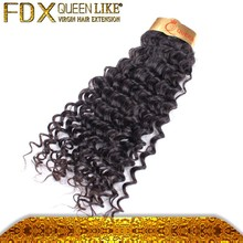 Hair extension packaging different types of curly weave hair