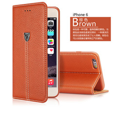 XUNDD Brand genuine leather wallet stand flip cover case for iphone 6