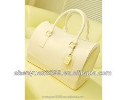 New Transparent Silicone Jelly Handbag Lady Fahion Shoulder Messenger Bag with Small Bag Female
