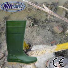 NMsafety industrial safety shoes green PVC rain boots S4