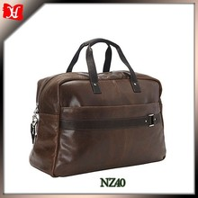 China Manufacturer bag cow leather weekend bag /Genuine Leather travelling bag