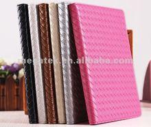 Tablet case weave design pu folio leather case for ipad 2 3 4 ,for ipad case air mini 2 3 4,for ipad air case credit card holder