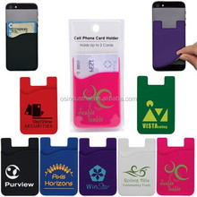 China supplier sticker adhesive mobile phone silicone smart wallet with logo