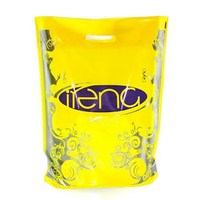 Yellow Color Euro Tote Die Cut Punch Plastic Bag