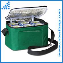600D polyester 6 can cooler bag