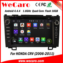 """Wecaro android 4.4.4 high quality 8"""" 2 din car dvd gps for honda crv OBD2 Playstore 2006 - 2011"""