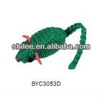 Small sisal animals mouse Cat toy
