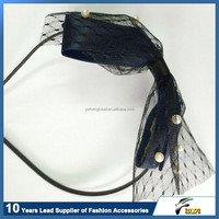 2015 New style fashion lace pearl headwrap with high quality