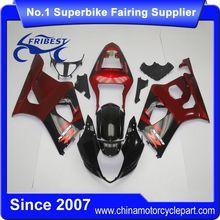 FFGSU007 China Fairings Motorcycle For GSX R1000 GSXR1000 2003 2004 Blakc&Red 2
