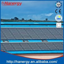 Hanergy 40kw solar system with solar tracking system on sloping roof