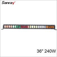 Auto lighting system36 inch led off-road light bar Optional Lens 240W single row 4D led light bar