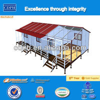 Well-designed low price steel structure prefab building with legs house