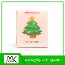 Fashion beautiful large paper gift bag, packaging bag, christmas tree gift bag