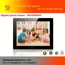 SH1502DPF 2012 hot new design!!.professional manufacturer 15 inch digital photo frame & digital picture frame (oem)